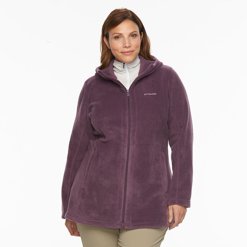 187cdb99443 Plus Size Columbia Three Lakes Hooded Long Fleece Jacket