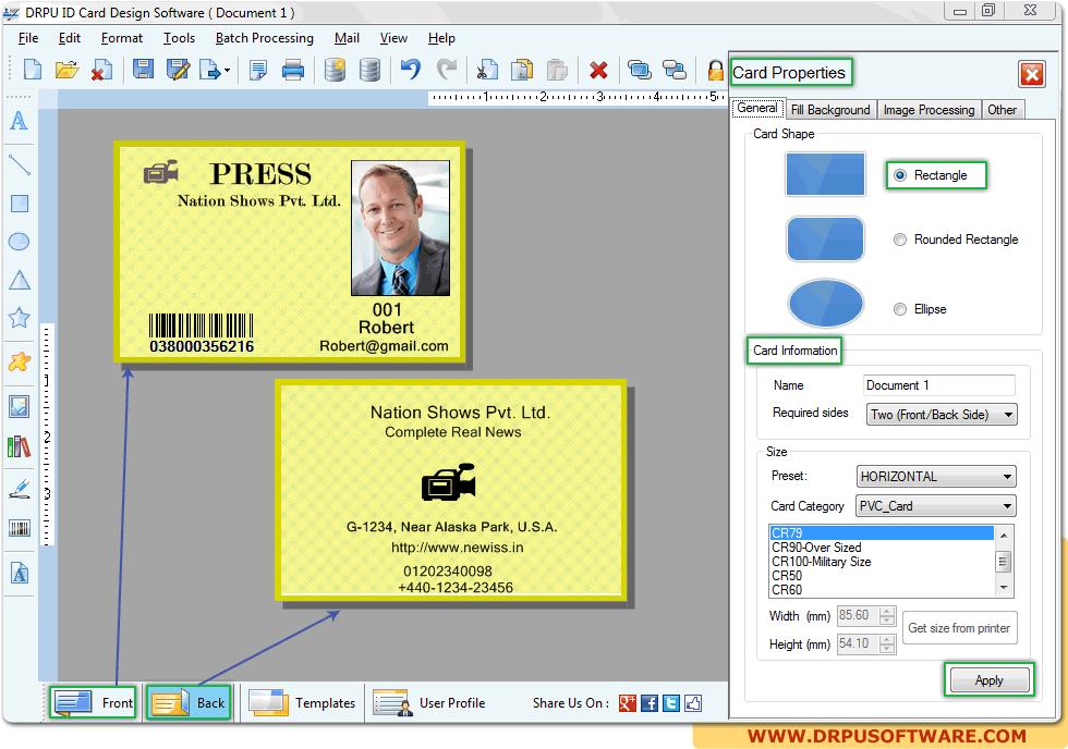 Drpu Id Card Design Software Design Student Employee Id Tags Cards Badges Software Design Card Design Design