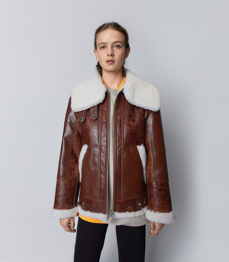 Moya Alpine The Arrivals Jacket Design Leather Jacket Shearling Jacket [ 1100 x 960 Pixel ]
