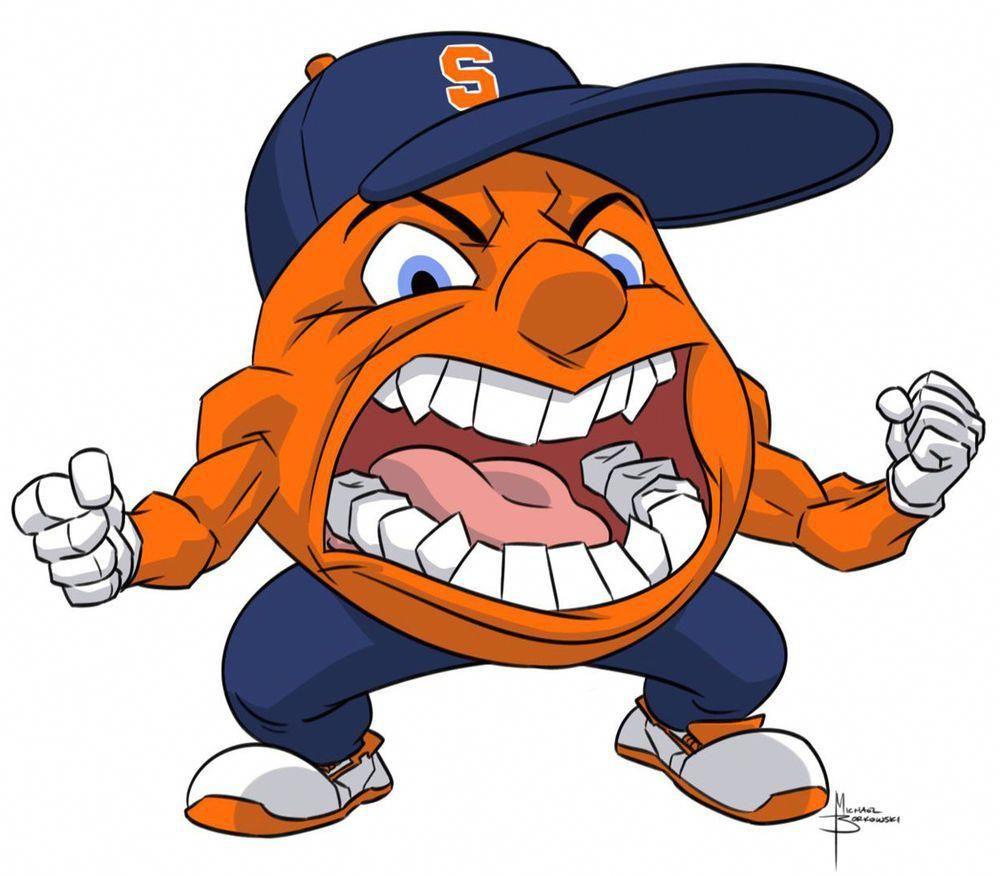 2016 Syracuse Orange Team Signed F Sz Logo Basketball Jim Boeheim