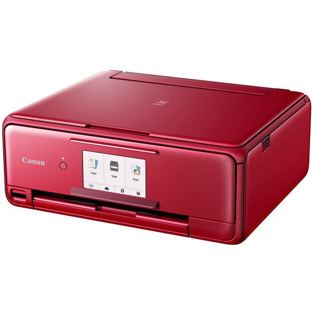 Canon pixma ts8120 wireless printer wscanner copier red
