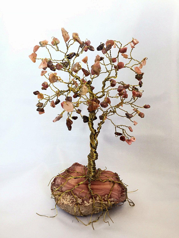 Large Rhodochrosite-Rhodonite Gem Tree Sculpture Wire Wrapped - Yoga ...
