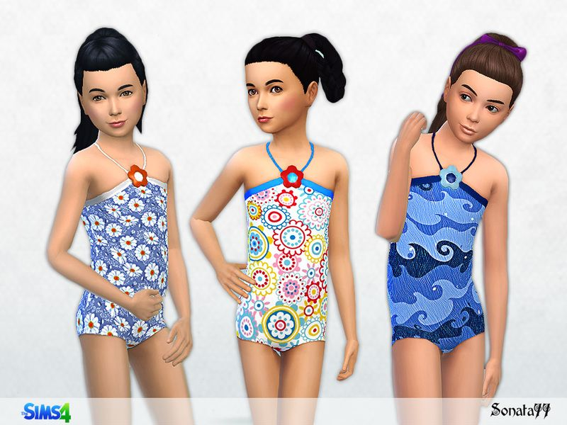 425d75478b Swimsuit for girl. Found in TSR Category  Sims 4 Female Child Swimwear