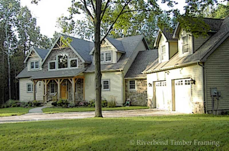 Timber Frame House Plan Of Riverbend Timber Framing Elevation Rustic Houses Exterior Timber House Timber Frame House