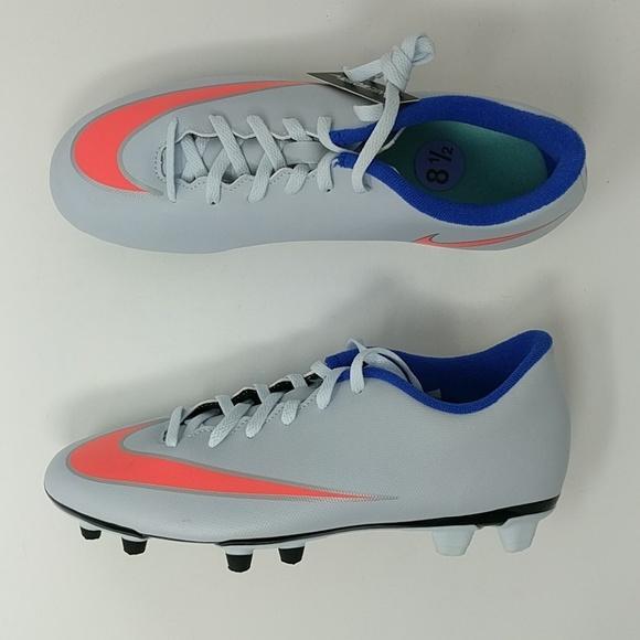 Nike Mercurial Womens Soccer Cleat Grey Blue Orange Size 8 5 658575 484 Womens Soccer Cleats Soccer Cleats Cleats