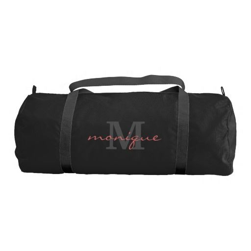 19a16737c4 Monogrammed - Git Fit - Pink Text (Customizable) Gym Bag
