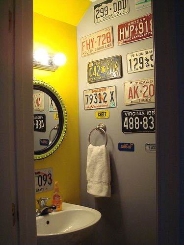 Flickr Find: Amanda and Josh\'s Quirky Powder Room | Garage bathroom ...