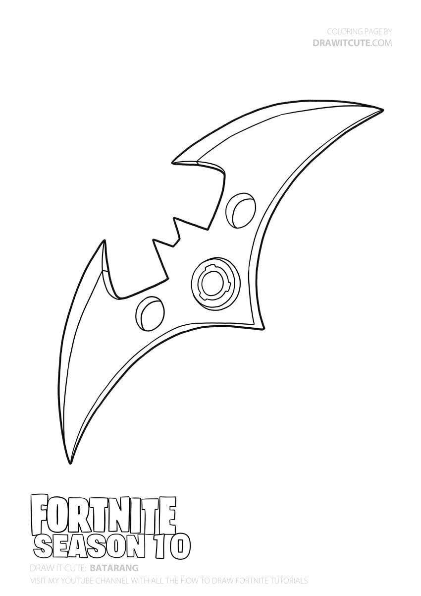 Batarang Fortnite X Batman Coloring Page Color For Fun Batman Coloring Pages Cute Coloring Pages Coloring Pages