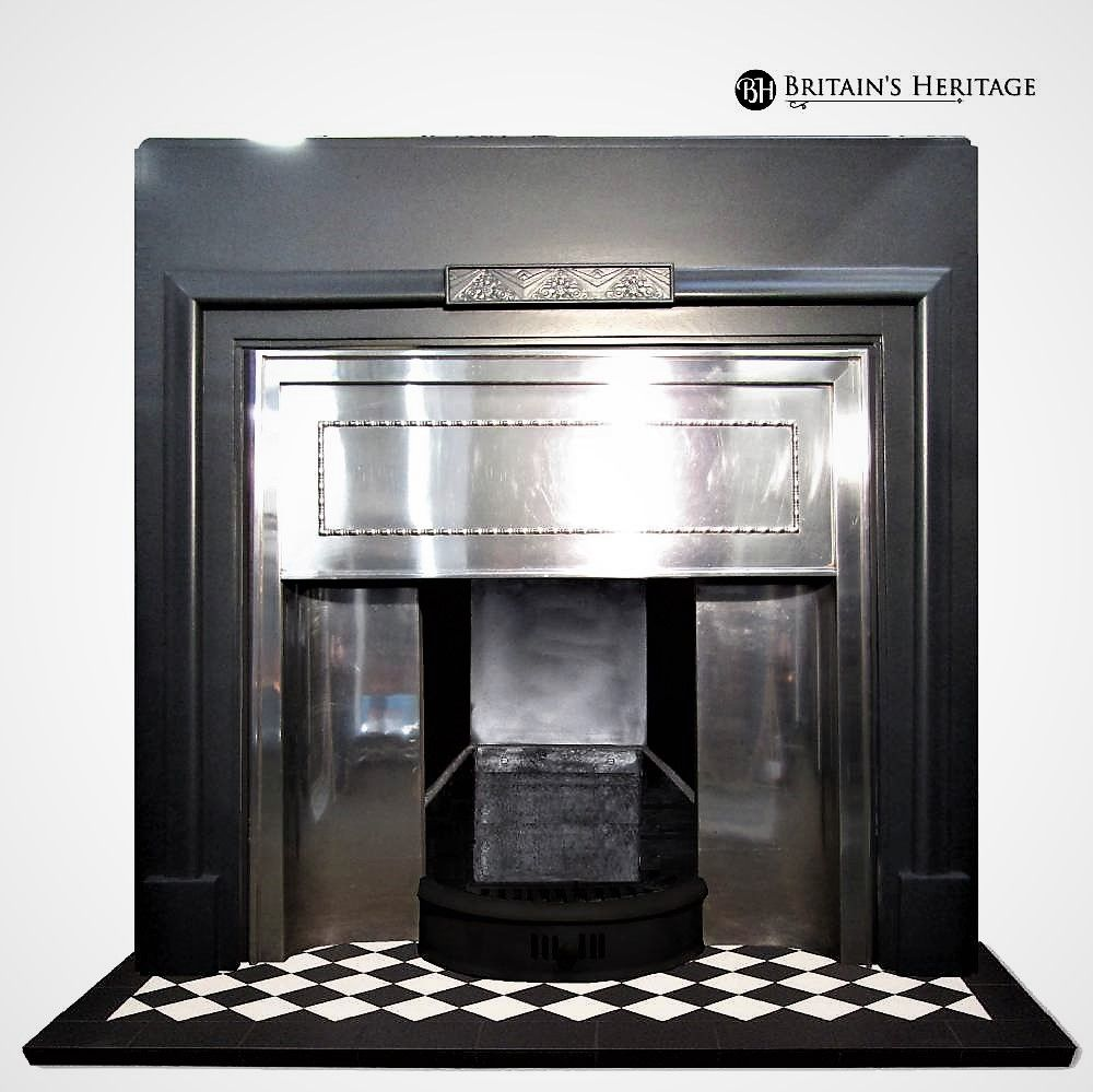 Antique 1930 S Stainless Steel Fireplace Insert Fireplace