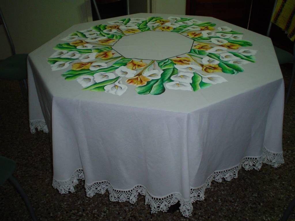 Manteles pintados en tela free mantelinm rayasmantel for Manteles de tela