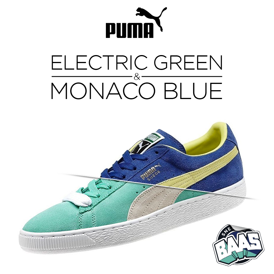 PUMA Suede Classic with the colourways of