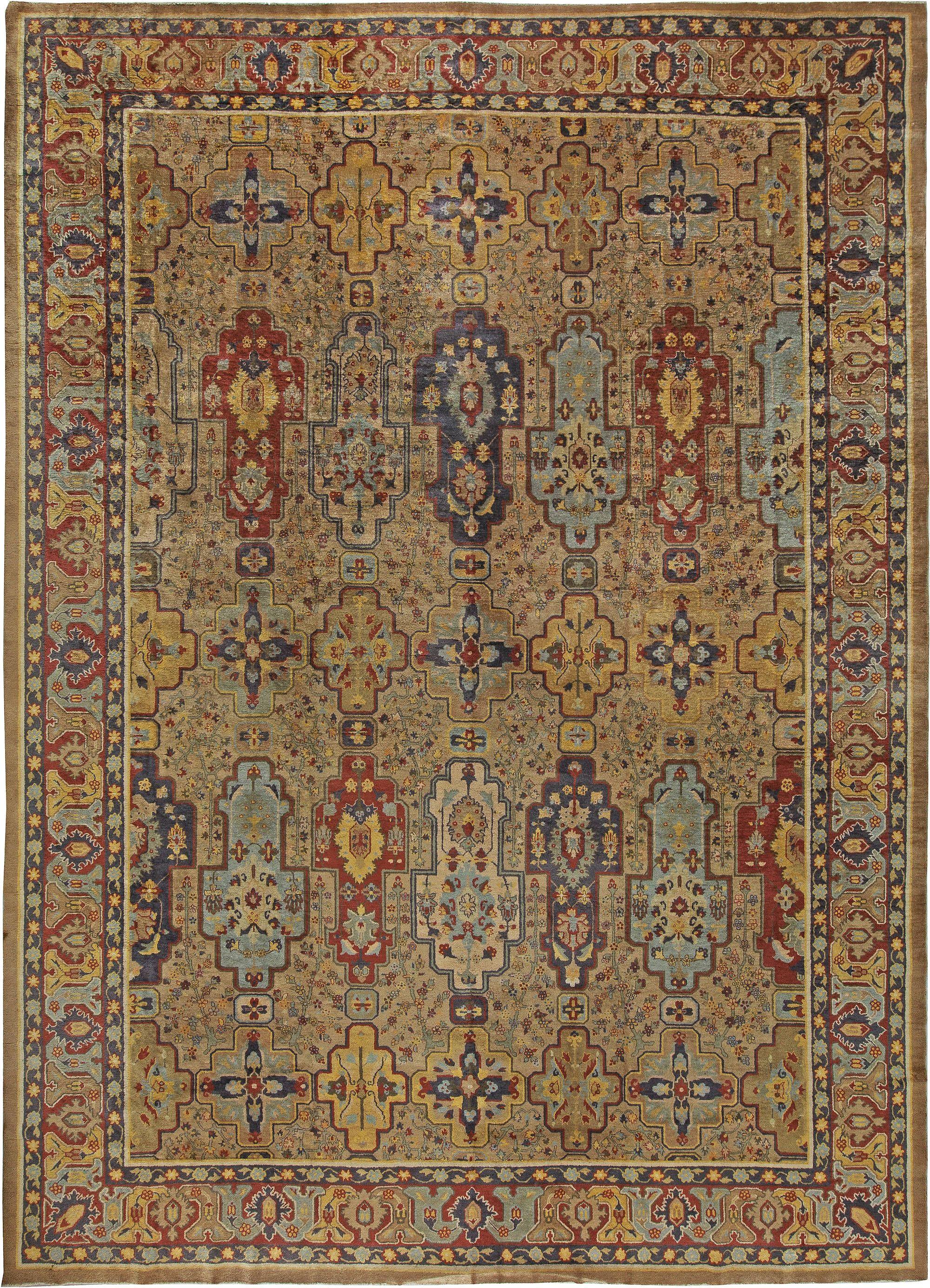 Antique Indian Carpet Size Adjusted
