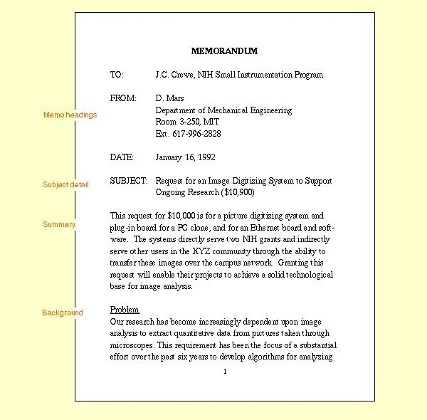 Doc Sample Internal Memo Format  Sample Internal Memo Template