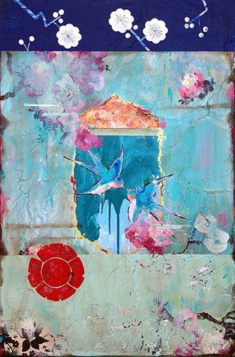 Kathe Fraga paintings, www.kathefraga.com Inspired by the romance of vintage French wallpapers and Chinoiserie with a modern twist.