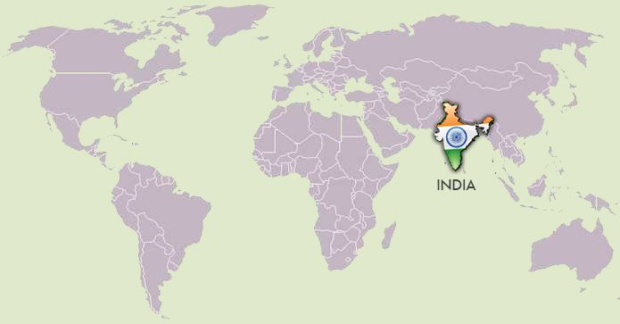 Location of india on a world map india pinterest learning location of india on a world map gumiabroncs Images