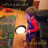 Larabee:  FAMILY toddler activities - pancake tossing