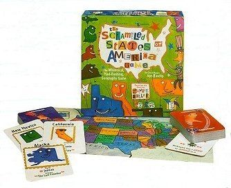 Scrambled States Of America Game Geography Board Games Child Board Games Kid Board Games Geography Games Usa Games States Games