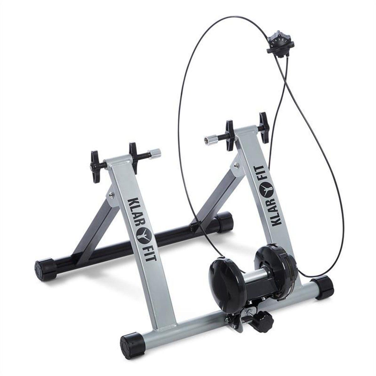 Klarfit Tourek Velo Rouleau Home Trainer 26 28 Pouces 100kg Acier Argent Taille Tu Fitness Et Musculation Appareil Fitness Velo Randonnee