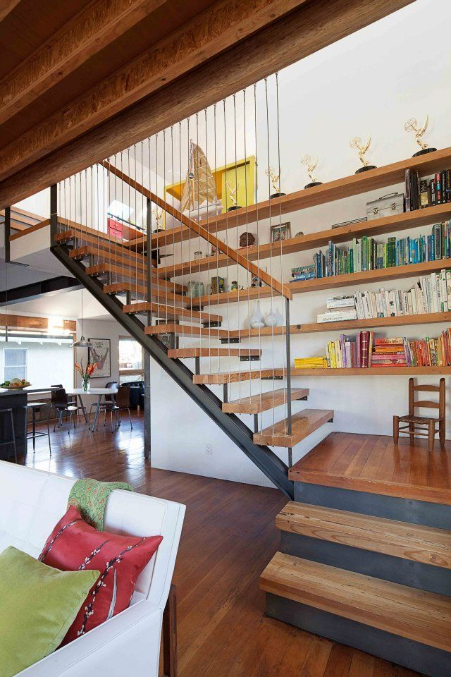 brooks residence treppe farbkonzept und treppenhaus. Black Bedroom Furniture Sets. Home Design Ideas