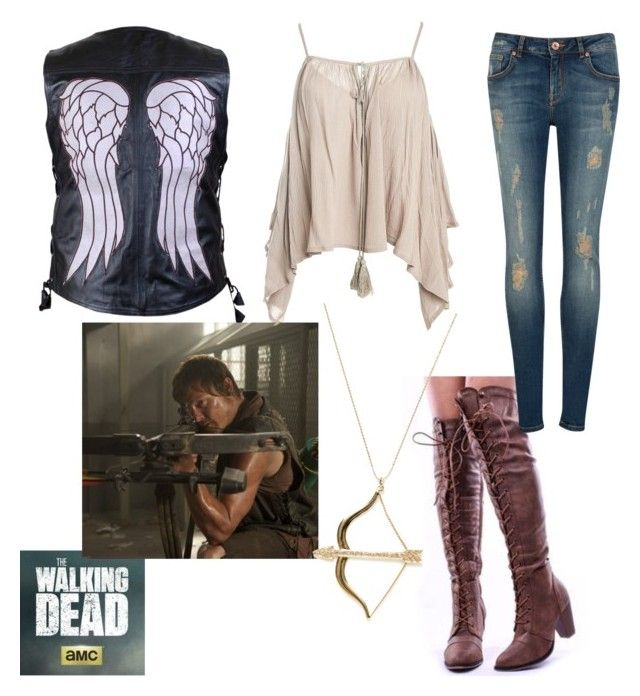 the walking dead x daryl dixon by nicolelynnexx on Polyvore featuring polyvore fashion style Sans Souci Ted Baker Sydney Evan clothing