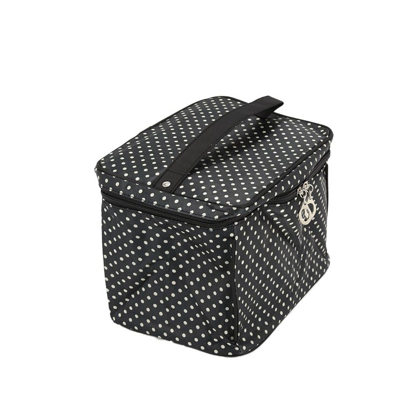 e6227ff9a2 Yesello Women Small Dots Cosmetic Handbag Waterproof Toiletry Case Wash Makeup  Bag With Mirror