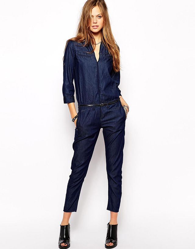4682b627553 Discover denim jumpsuits and rompers. From tough overalls to lightweight  long-sleeved styles at ASOS.