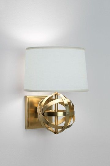 Robert Abbey Fine Lighting Lucy Wall Sconce In Dark Natural Brass