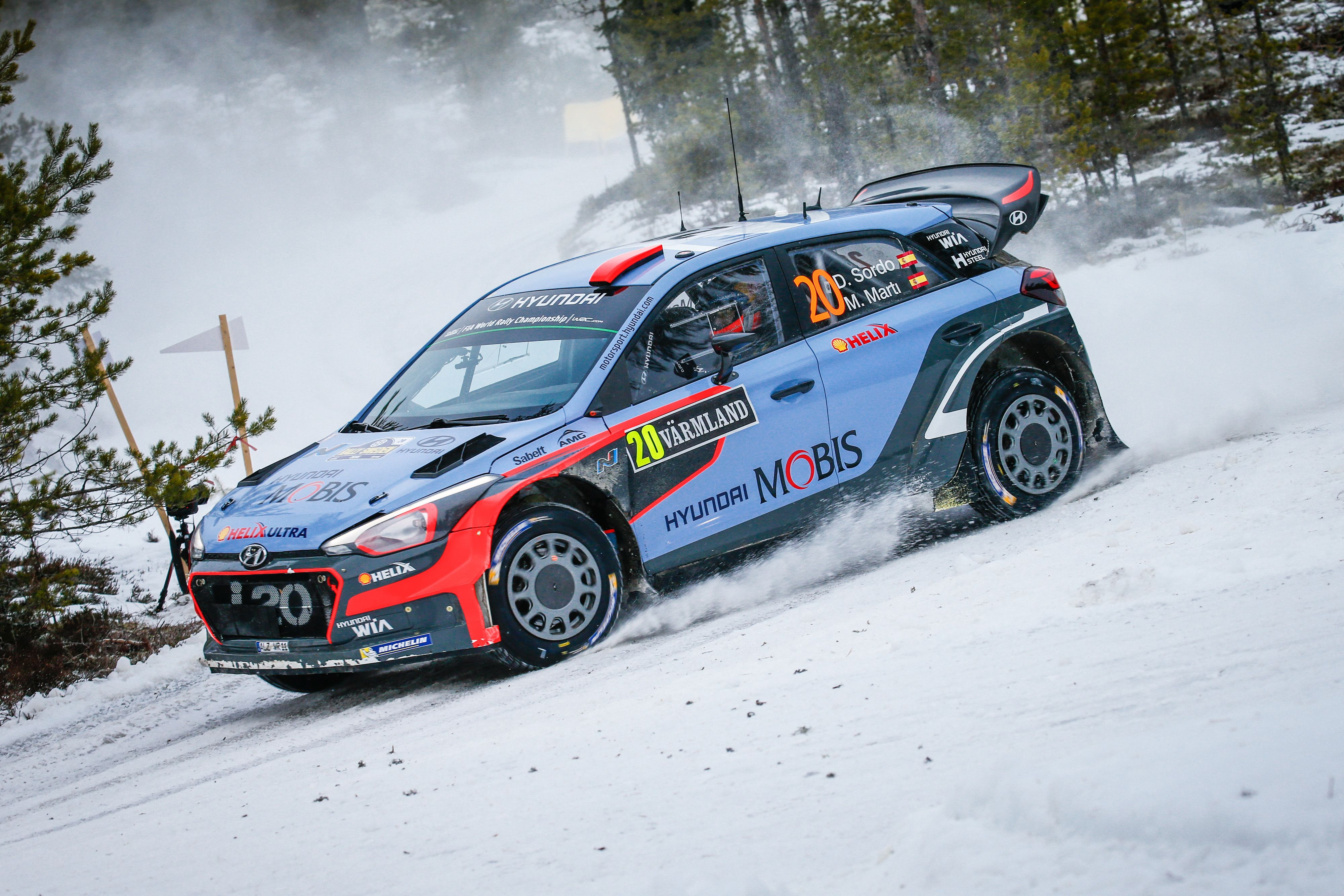 Dani Sordo Hyundai I20 Wrc Rally Sweden 2016 Auto Racing