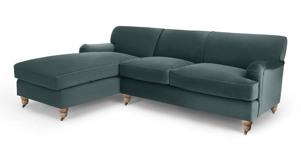 Made Marine Green Velvet Corner Sofa Corner Sofa Sofa Vintage Sofa