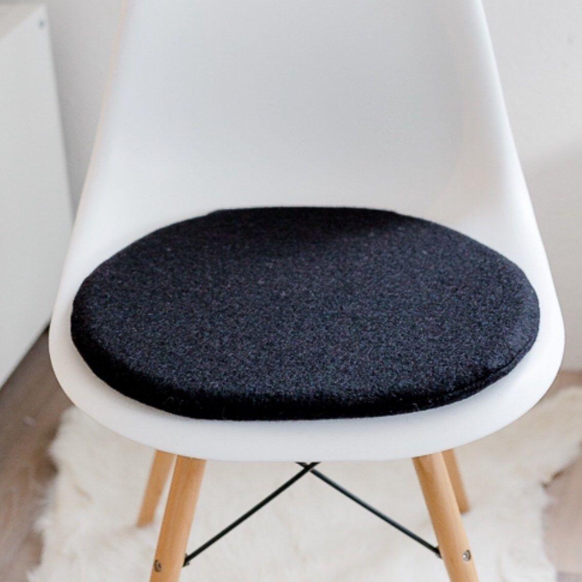 Sitzkissen Passend Für Eames Chair In Schwarz Etsy Sitzkissen Eames Kissen