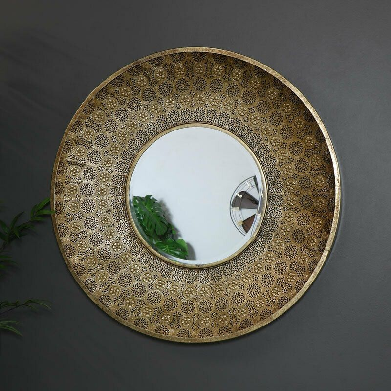 gold mirror wall decor.htm large round moroccan gold wall mirror decorative and ornate with  large round moroccan gold wall mirror