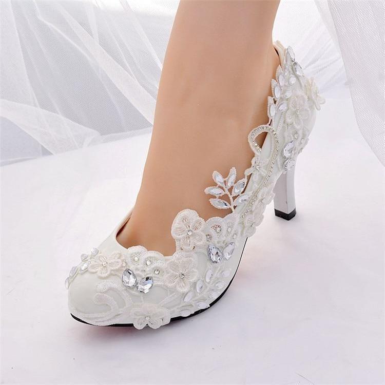 Crystal Diamond High Closed Toe Silver Heels For Wedding Bridalee Wedding Pumps Wedding Shoes Bride Wedding High Heels