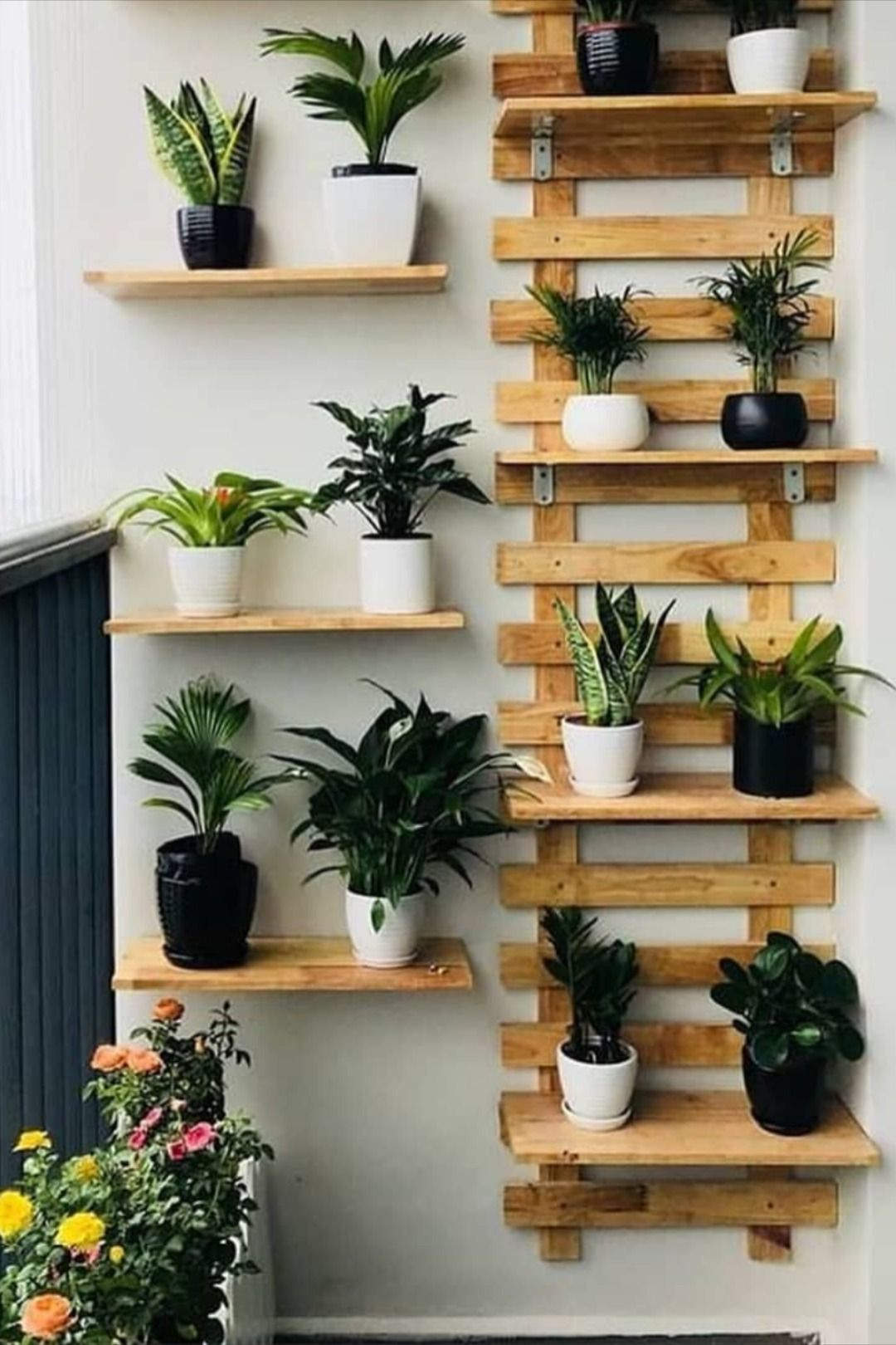 Vertical Plant Wall For Small Balcony Ideas