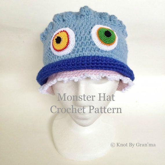 Monster Hat Crochet Pattern | Knitting - Crochet | Pinterest