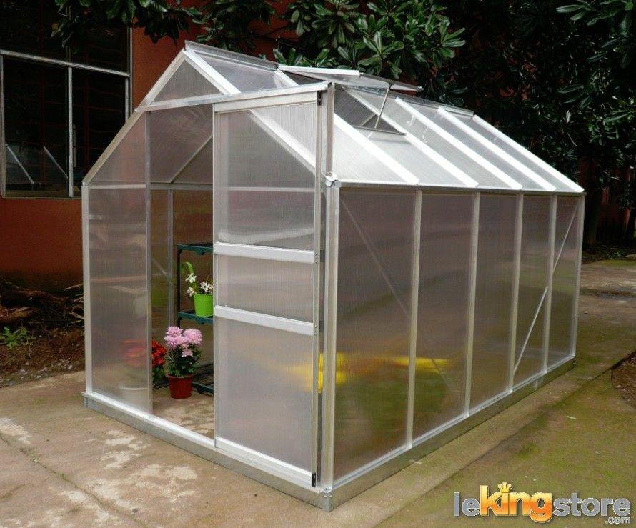 serre de jardin alu et polycarbonate 5 92 m2 avec base et fen tre de toit fen tre de toit. Black Bedroom Furniture Sets. Home Design Ideas