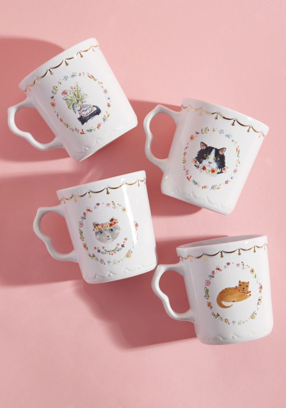 Thank Meow Later Mug Set | White ceramics, Tea time and Kitchens