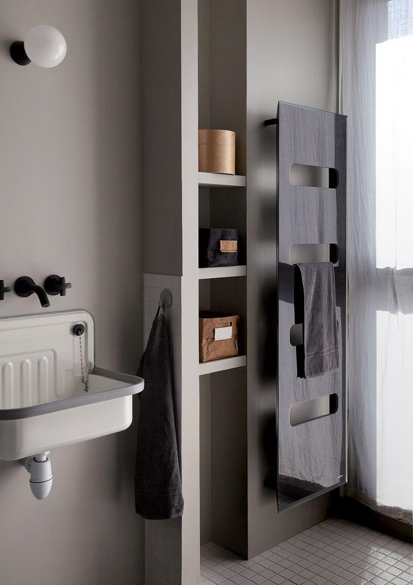 Un sèche-serviettes qui ne dénaturera pas votre salle de bains ...