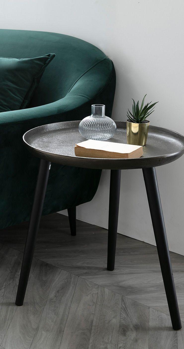 Table D Appoint Design Metal Et Pieds Bois Noir Linta Miliboo En 2020 Table D Appoint Design Table D Appoint Mobilier De Salon