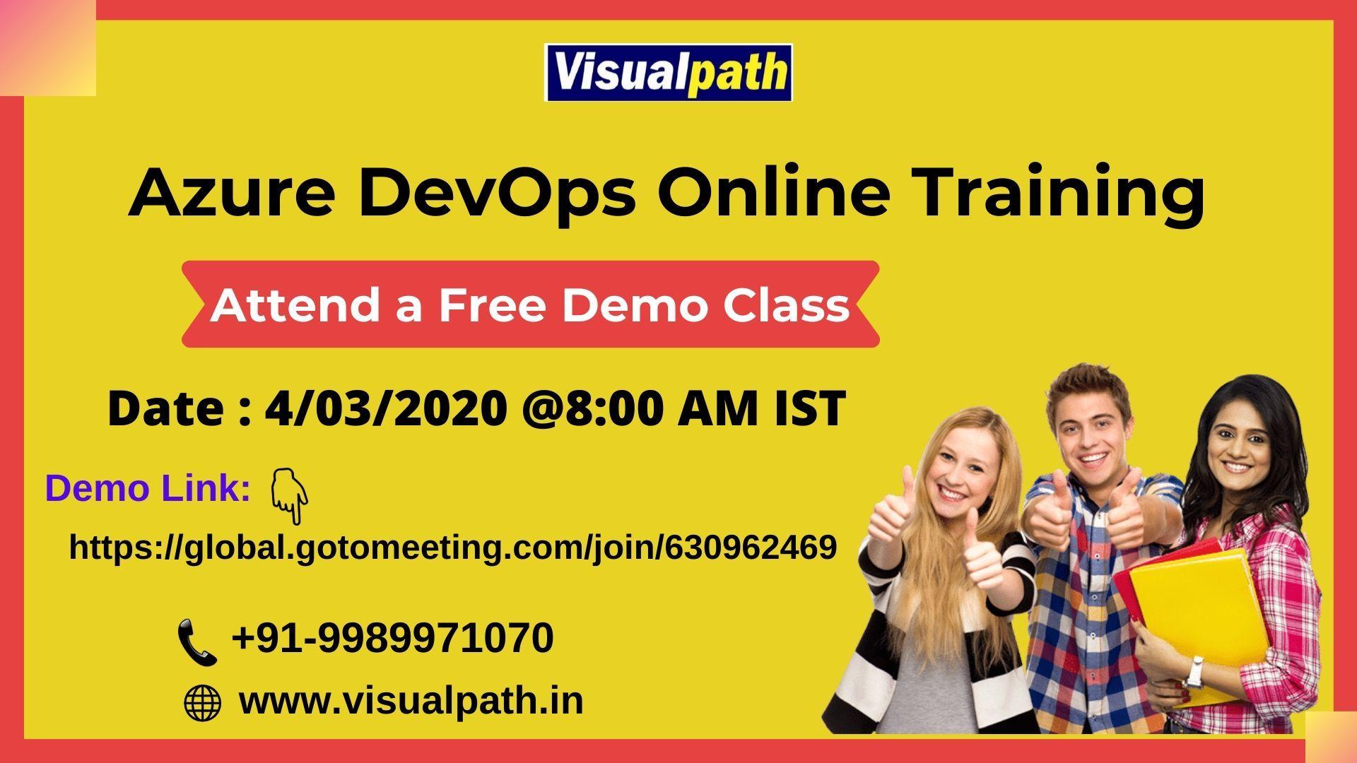 Attend a free demo class on AzureDevOps Online Training