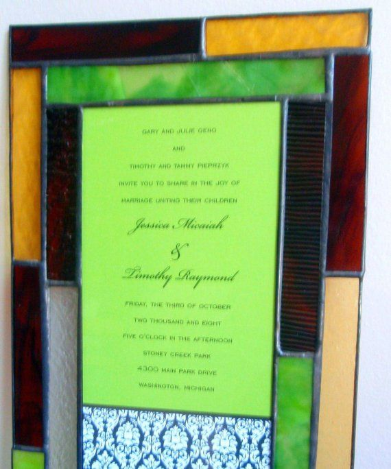 Stained Glass Wedding Invitation Frame by crystalightdesigns