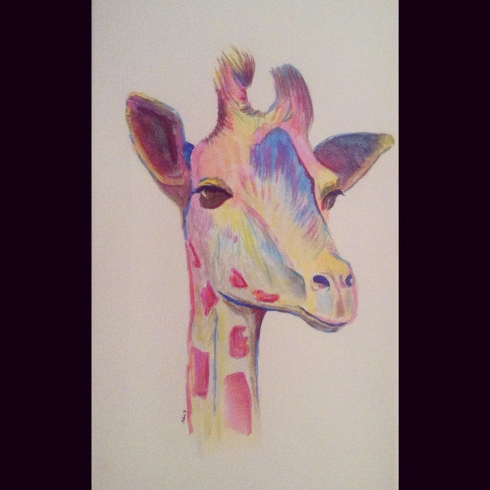 #giraffe #acrylic #paint #art #abstract #colorful