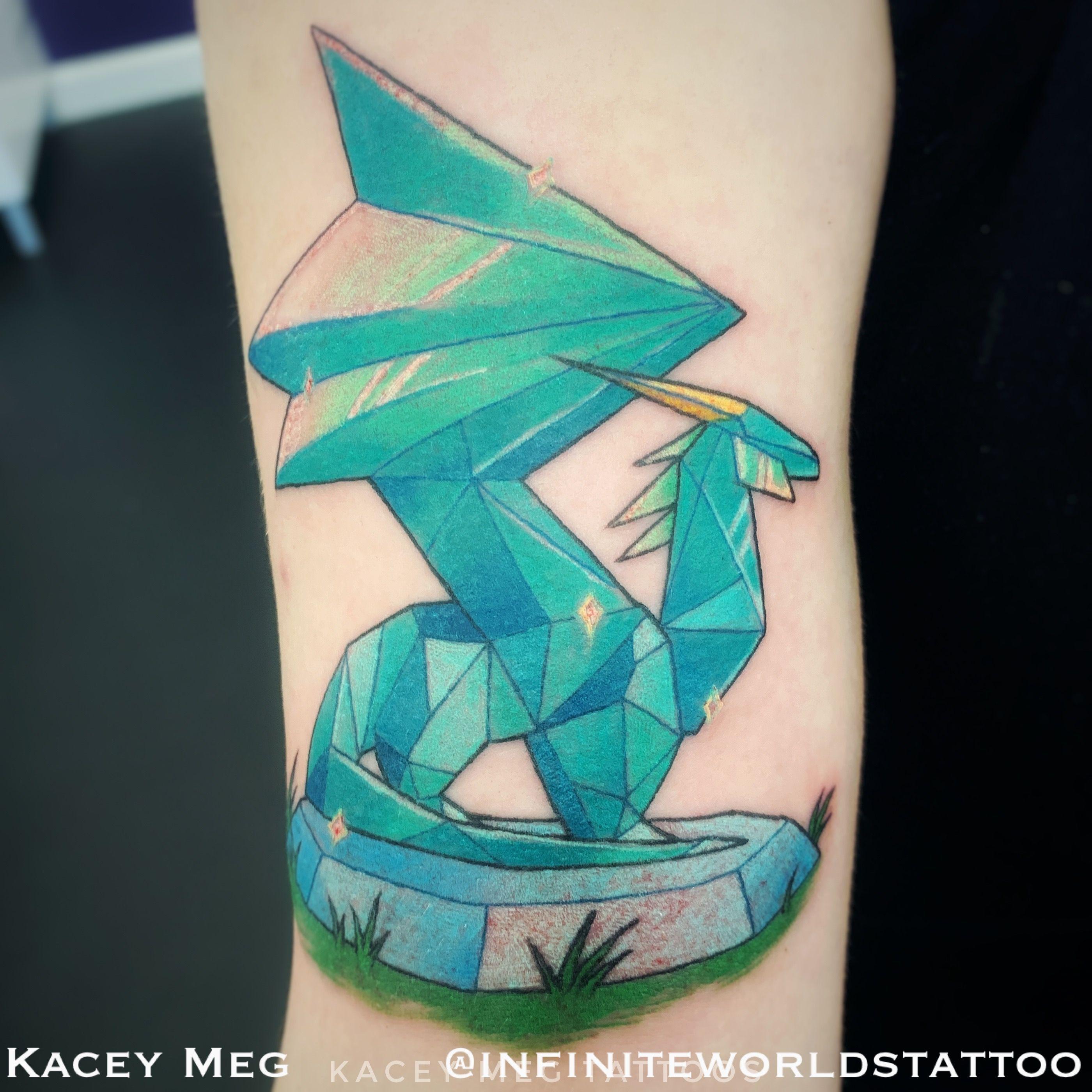 Crystal Dragon Tattoo From Spyro Tattoo By Kacey Meg From Infinite Worlds Tattoo And Design Tattoos World Tattoo Pikachu Tattoo