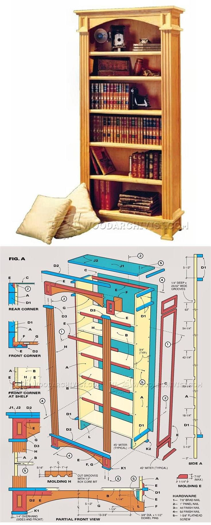 Dia Meuble Traditional Bookcase Plans Furniture Plans And Projects