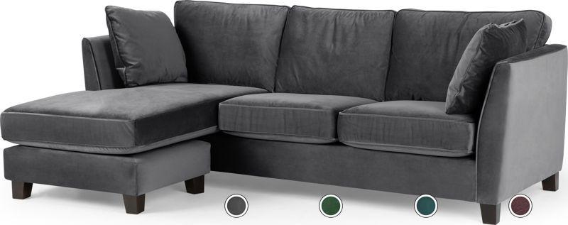 Awe Inspiring Wolseley Large Corner Sofa Pewter Grey Velvet From Made Com Interior Design Ideas Gentotryabchikinfo