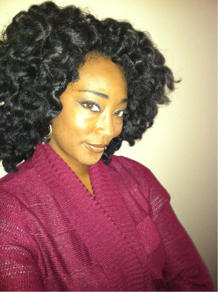 Freshly undone puffy two strand twist out