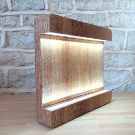 Unique ways to craft wood lamps and lights   Modern desk