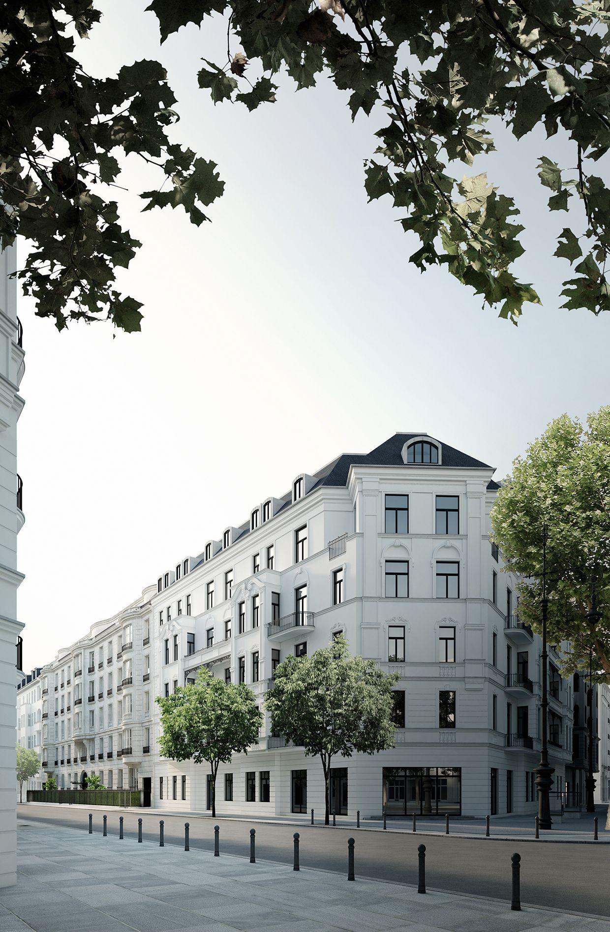 Wohnhaus mit 12 wohneinheiten berlin wilmersdorf - Architekturvisualisierung berlin ...