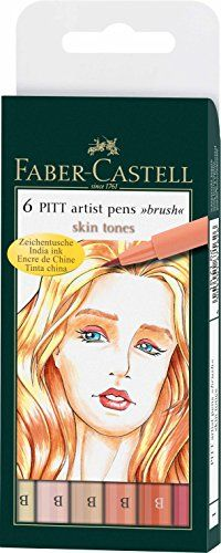 """""""Pitt Artists Pen Set 6 Skin Tones Faber-Castell"""" Anybody ever use these? I'm thinking of buying them... I love the Faber-Castell Color and Watercolor pencils! Or should I just buy the Copics (y'all are making me want some gah)? Just wondering about these...Thanks,Alessandra"""