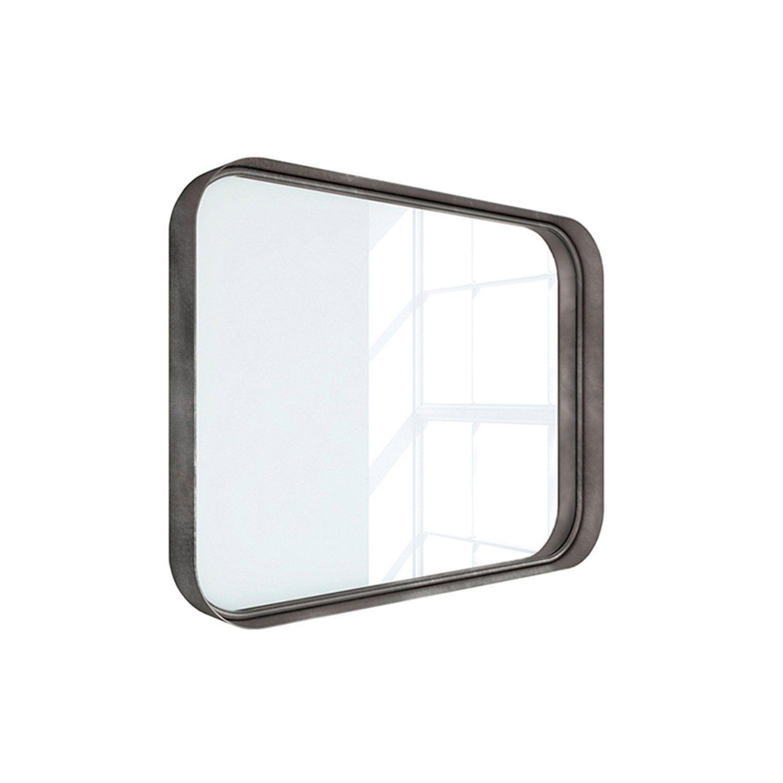 Miroir Non Lumineux Encadre L 80 X H 60 Cm Argent Vielli Randal Kende En 2020 Miroir Miroir Rectangulaire Lumineux