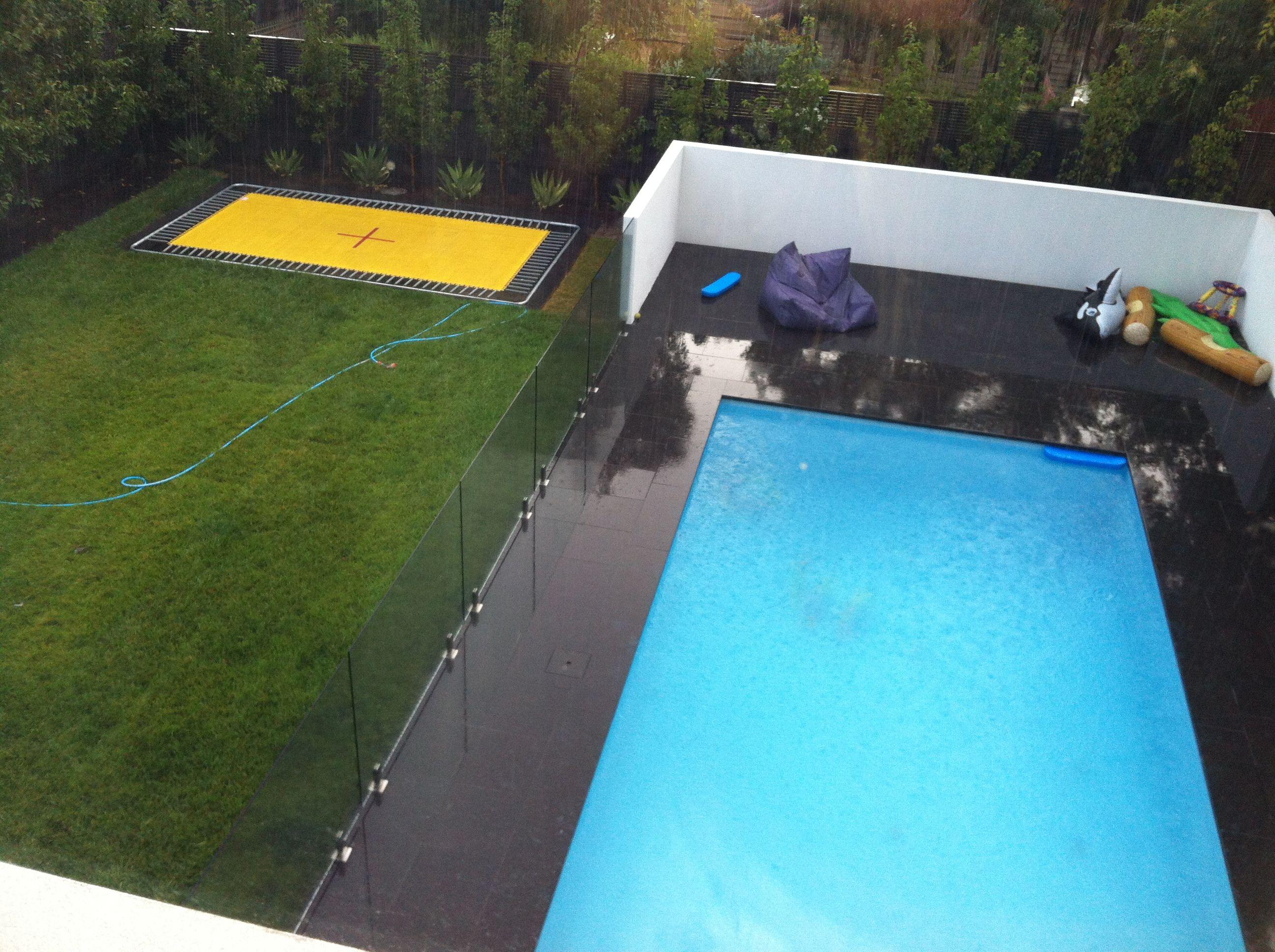 In ground Olympic size trampoline   L I V I N G //   Pinterest ...